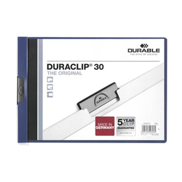 Папка Durable Duraclip Orig с клипом А4, синий