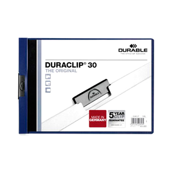 Папка Durable Duraclip Orig с клипом А4, ассорти