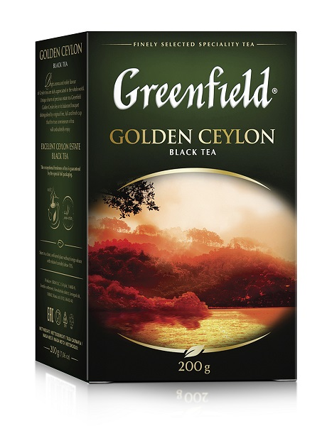 Чай листовой Greenfield Golden Ceylon черный 200 г