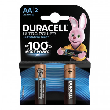 Батарея Duracell Ultra Power AA (2 штуки)